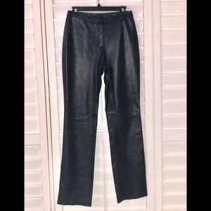 Express Genuine Leather Pants Women Size 3/4 Black